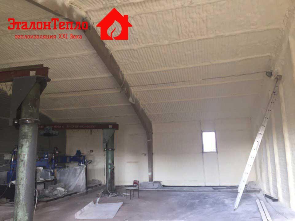 Утепление цеха по обработке мрамора на Станочном