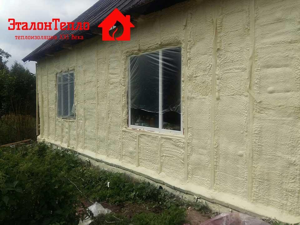 Утепление пенополиуретаном деревянного дома